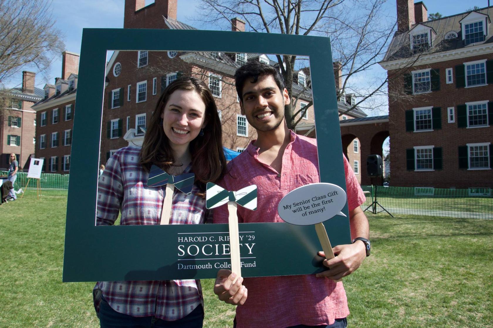 Students in Harold C. Ripley '29 Society photobooth
